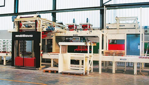 Layer palletizer for the Building Materials-Industry (PLS-B)