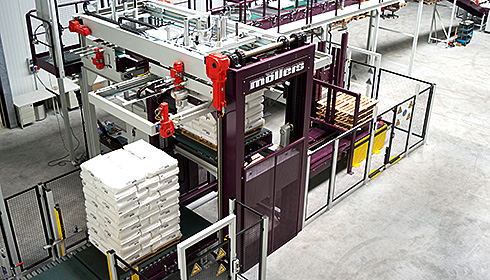 Palletizing system for the chemical and petrochemical industry (PLS-C)